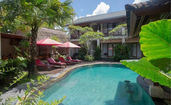 Goed hotel Ubud - Lumbung Sari cottages