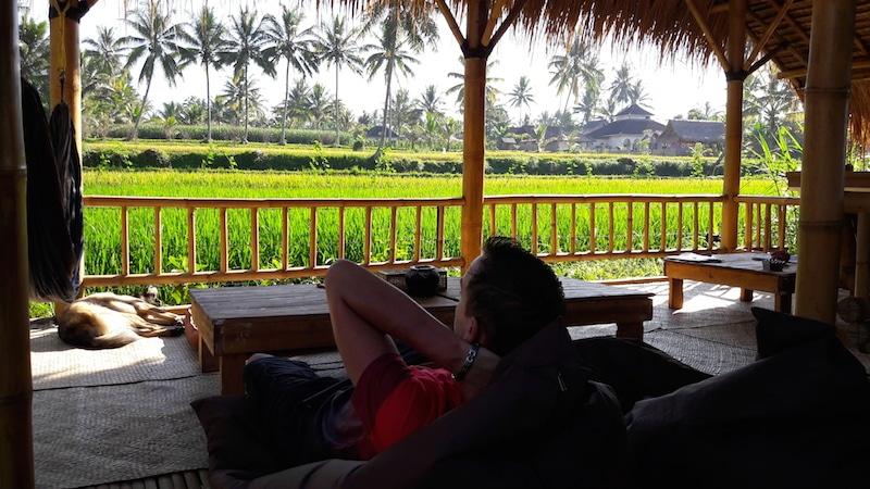 restaurant van Les Rizieres Lombok!
