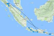 Route Sumatra Java Bali
