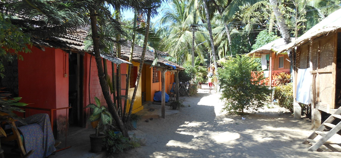 Beach huts Palolem Goa India