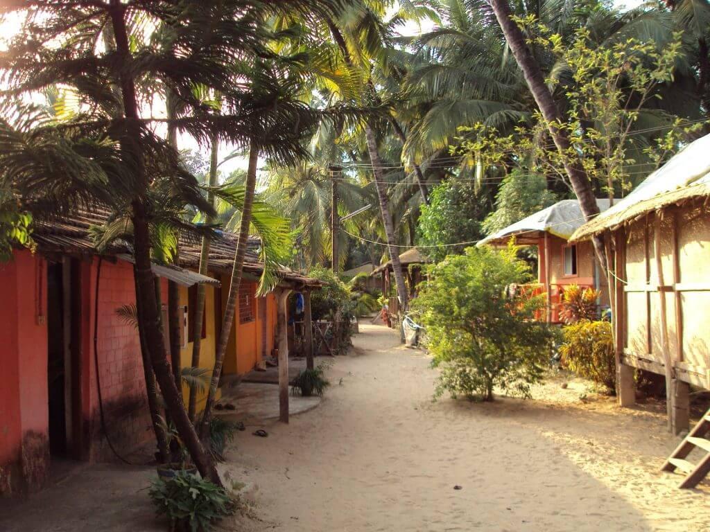Beach huts in Palolem