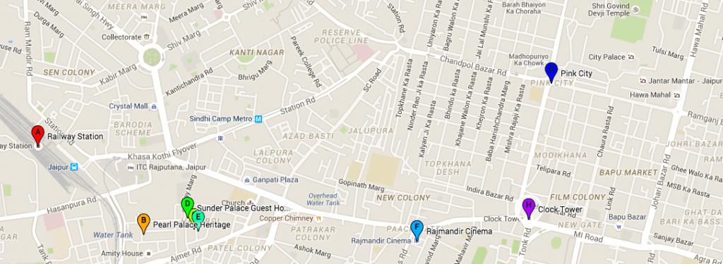 hotels en restaurants Jaipur