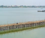 Bamboo bridge naar Kaoh Pan