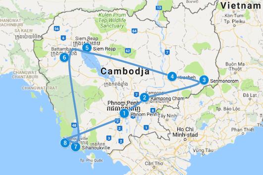 route cambodja