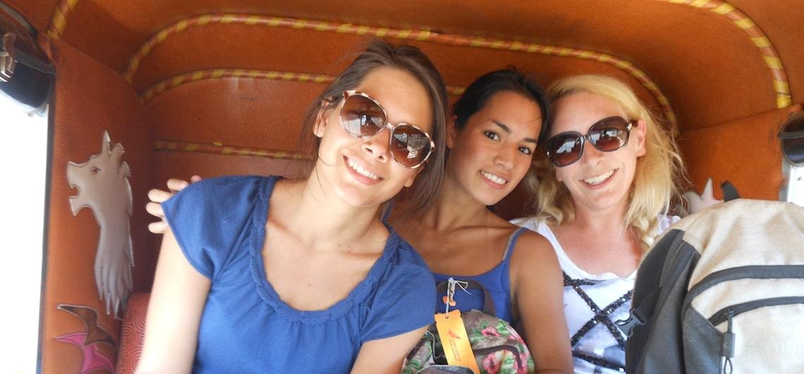 Vrouwen reizen door India, veilig