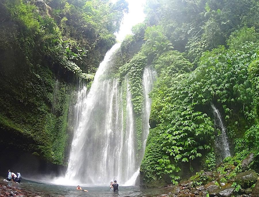 tiu kelep waterval Lombok Senaru