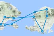 Eilandhoppen Indonesië Route Bali en Lombok