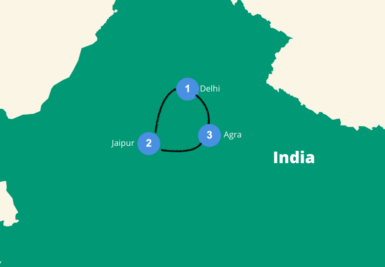 Golden triangle india route