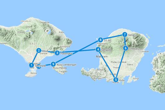 bali lombok route