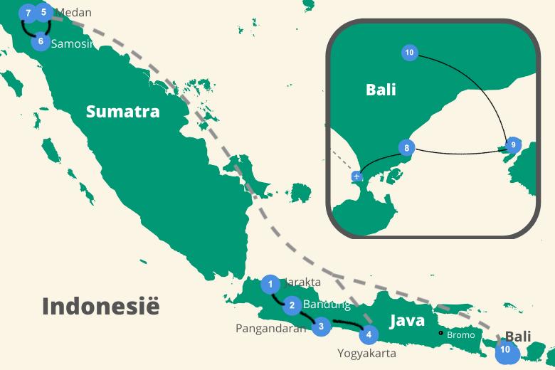 Indonesie rondreis sumatra java bali