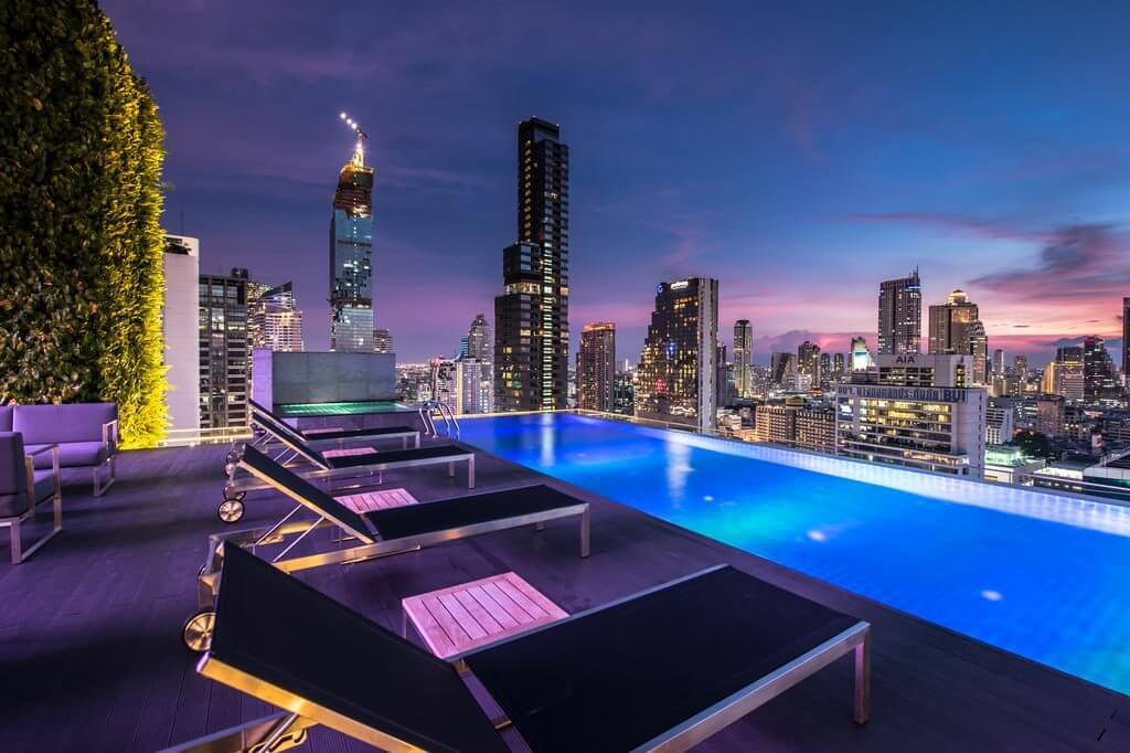 Amara Bangkok rooftop pool