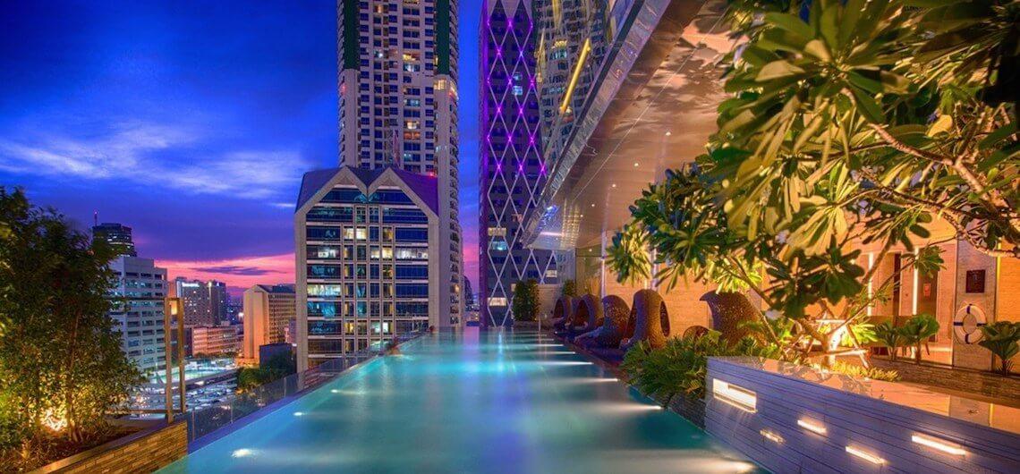 Infinity pool Bangkok Thailand