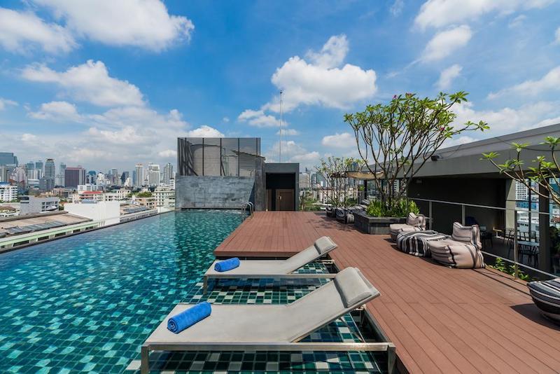 Infinity zwembad bangkok hotel