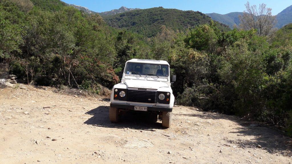 Gorropu met Jeep