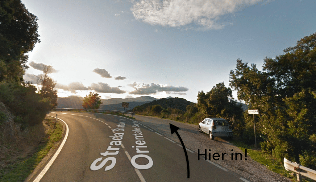 Route Gorropu via Sa Barva