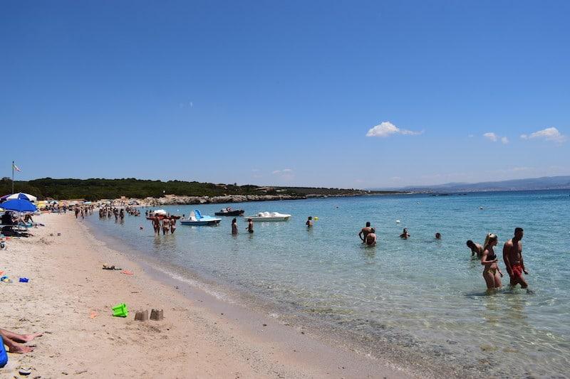 Strand Lazzaretto bij Alghero