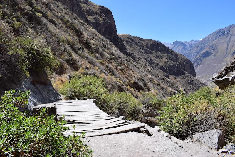 Hiken naar Llahuar Colca Canyon