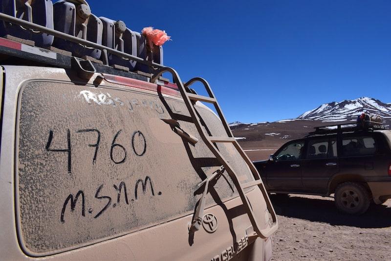 Hoogte Uyuni tour hoogteziekte