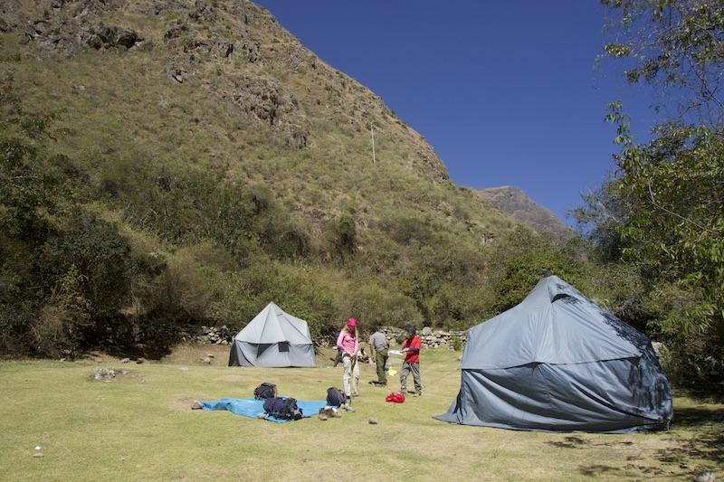 Overnachten tent inca trail