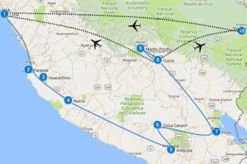 Peru reisroute