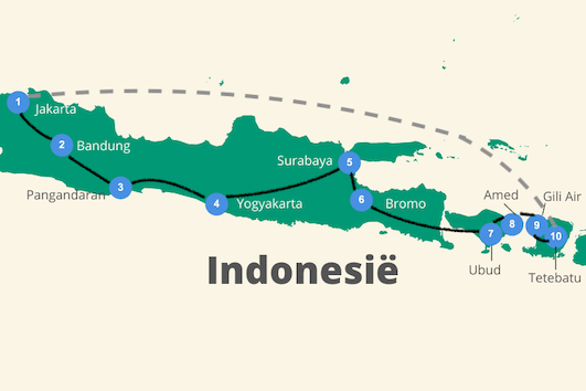 Route Java bali