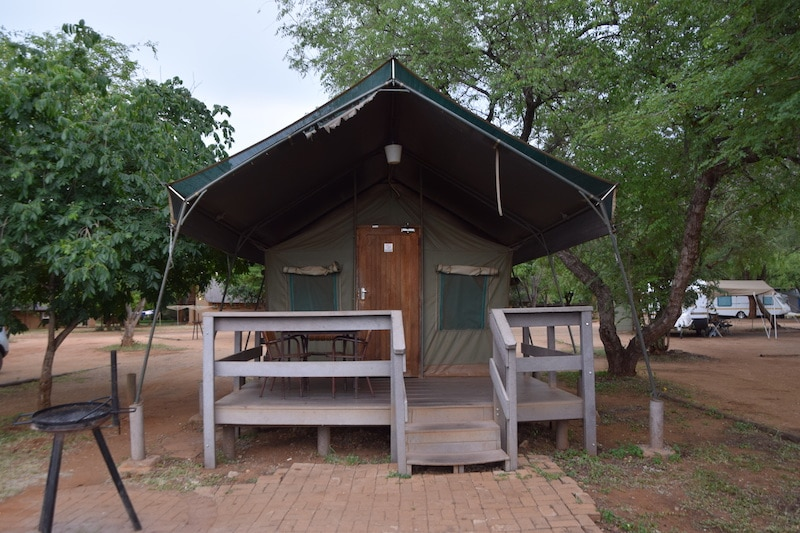 Tent Krugerpark Crocodile bridge camp