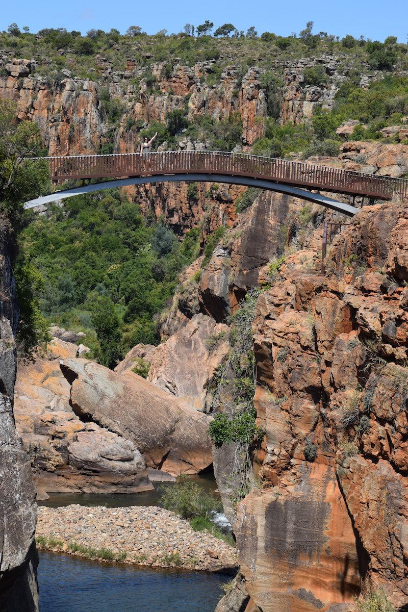 Brug Bourke's Luck potholes Zuid Afrika