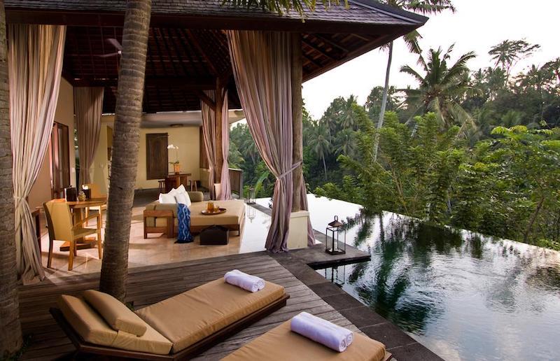 Luxe villa Ubud infinity pool