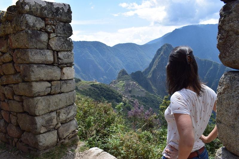 Machu Picchu vanaf Sungate