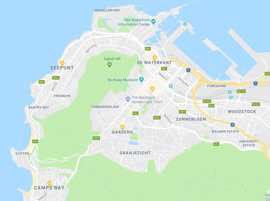 Veilige wijken Kaapstad