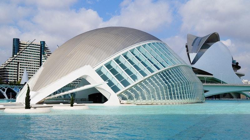 la Ciudad de las Artes y Sciencias Valencia