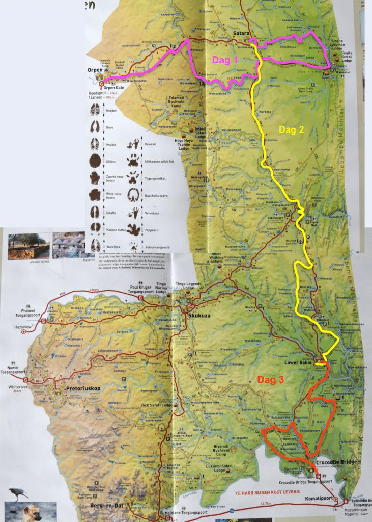 Krugerpark road map