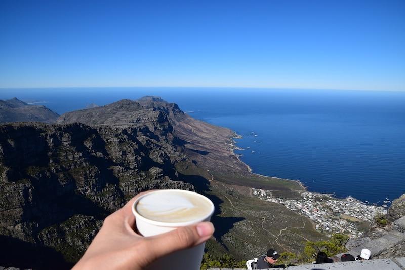 Ontbijten op Tafelberg