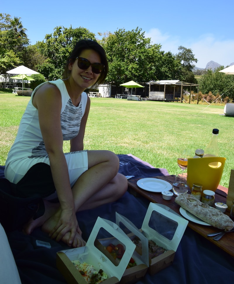 Picknicken stellenbosch wijn tour