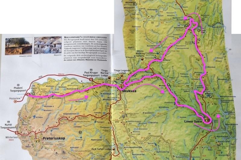 Route krugerpark 1 dag
