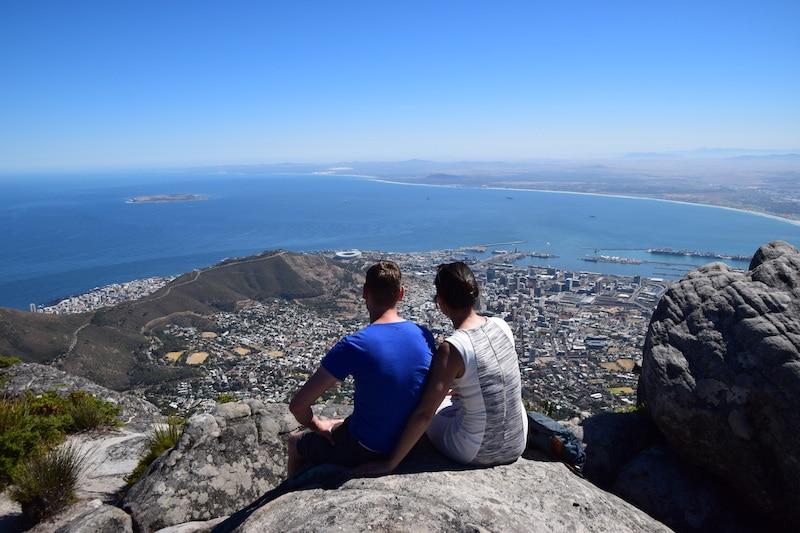 Uitzicht Kaapstad vanaf Tafelberg