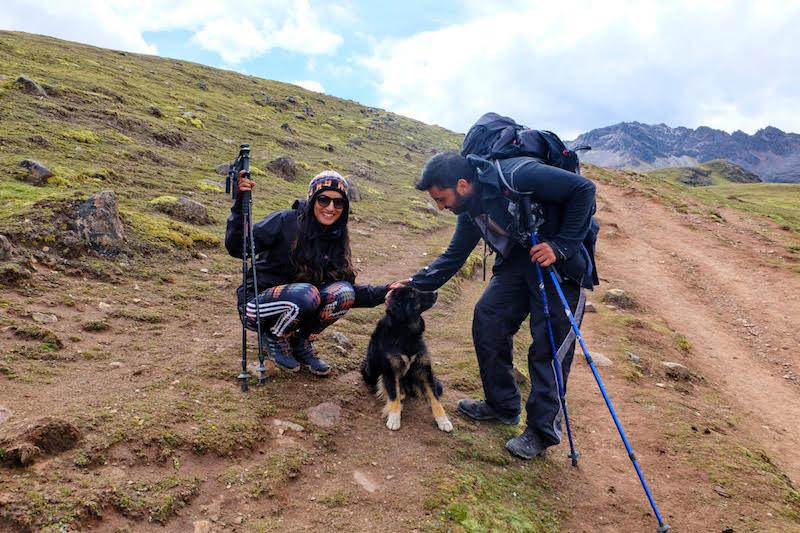 trekking rainbow mountain