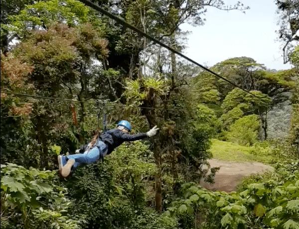 ziplinen Costa Rica