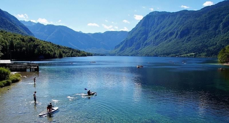 Bohinj meer Slovenie