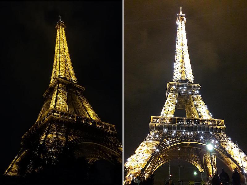 Eiffeltoren avond