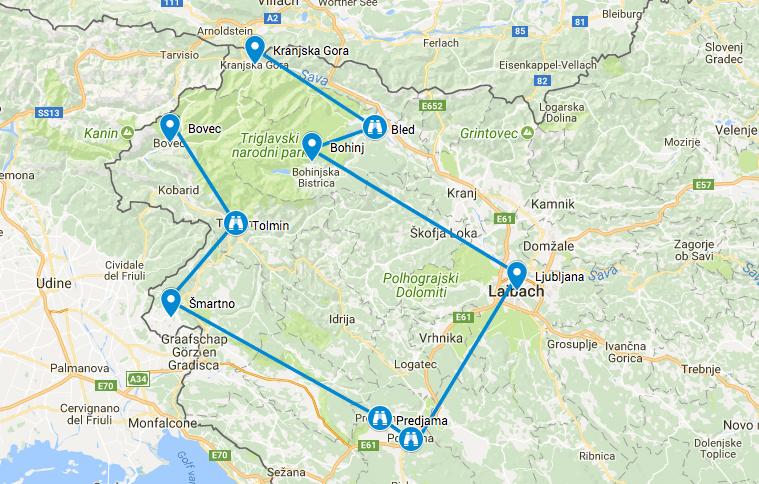 roadtrip Route Slovenië 10 dagen