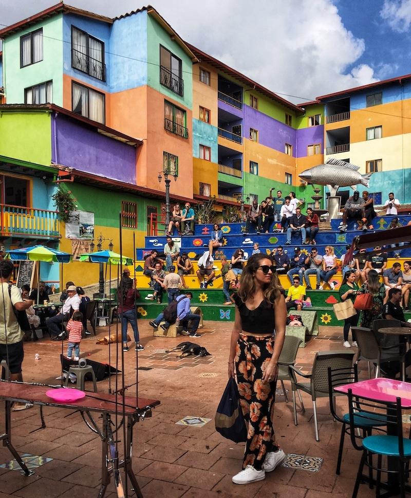 Guatape gekleurde stad Colombia