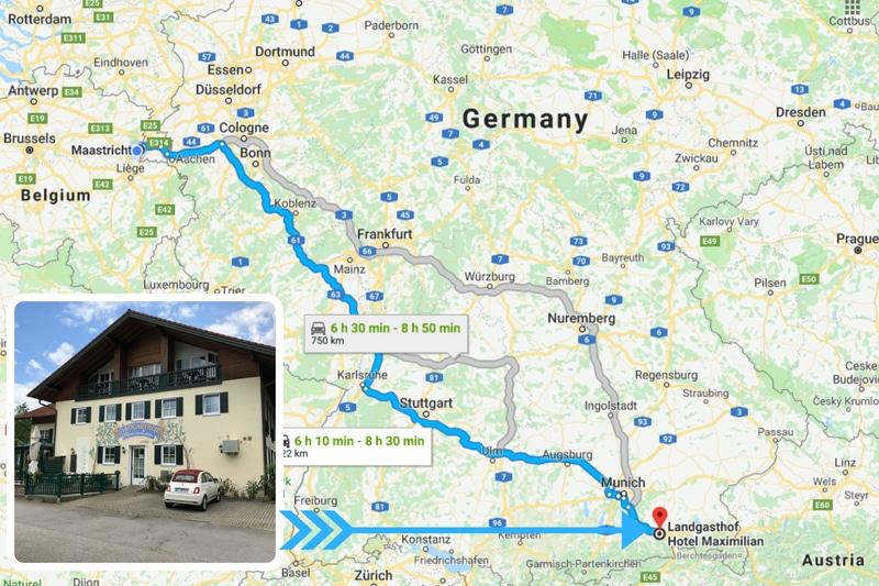 Hotel overnachting Duitsland tijdens doorreis Oostenrijk
