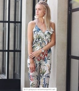 Jumpsuit tropical wit
