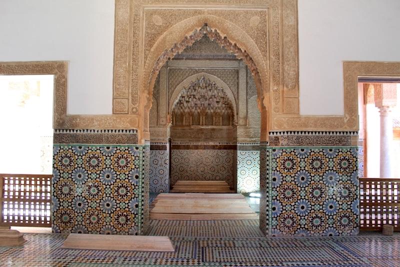 Marrakech bezienswaardigheden saadiens graftombes