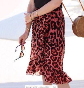 Rok luipaard print rood my jewellery