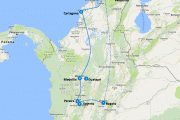 Route Colombia backpacken