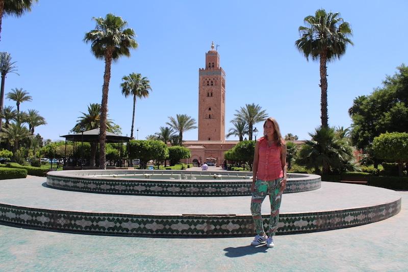 park en koutoubia moskee
