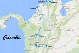 reisroute colombia