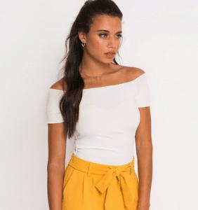 zomer outfit geel broekje
